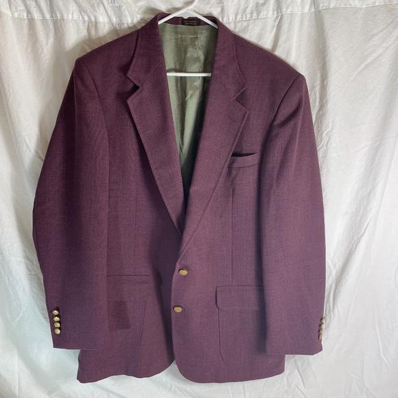 Andhurst Other - Vintage ANDHURST Mens 43L Plum 2 Button Blazer